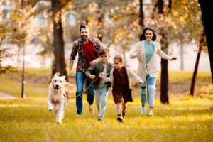 Healthy Family running